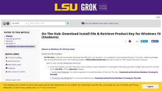 On The Hub: Download Install File & Retrieve Product Key for ...