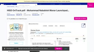 HISD OnTrack.pdf - Mohammad Nababteh Manar Launchpad ...