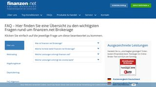 FAQ | finanzen.net Online Brokerage