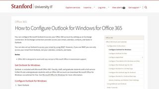 How to Configure Outlook for Windows for Office 365 | University IT