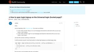 How to open login/signup on the Universal login (hosted page ...