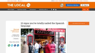 12 signs you've totally nailed the Spanish language - The Local