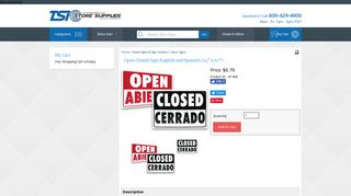 Open Closed Sign English and Spanish (14