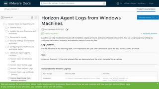 Horizon Agent Logs from Windows Machines - VMware Docs