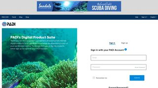 PADI eLearning - Logon or Register with your PADI Account