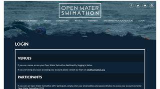 Login - Open Water Swimathon