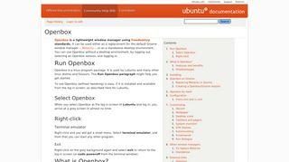 Openbox - Community Help Wiki - Ubuntu Documentation