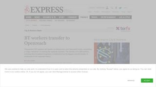 BT workers transfer to Openreach | City & Business | Finance | Express ...