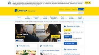 Aviva For Advisers: Home
