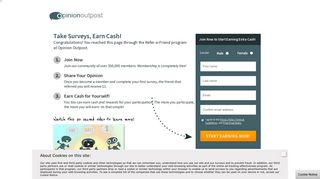 Join Opinion Outpost, Start Earning Cash Today!