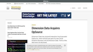 Dimension Data Acquires OpSource | Data Center Knowledge