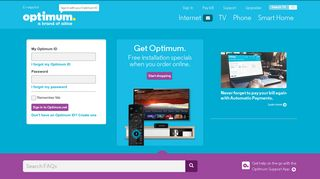 Optimum   TV, Phone and Internet Support Home