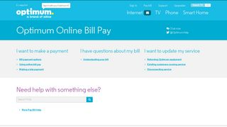 Pay Your Bill Online   Optimum