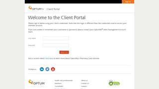 Client Portal - Sign in - OptumRx