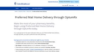 Preferred Mail Home Delivery through OptumRx   UnitedHealthcare®