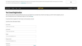 Registration - Optus