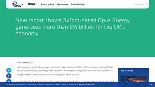 New report shows Oxford-based Opus Energy generates more than ...