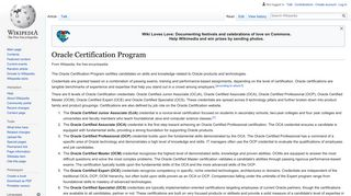 Oracle Certification Program - Wikipedia
