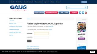 Oracle Applications Users Group - Login
