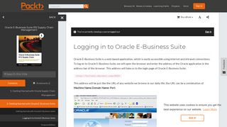 Logging in to Oracle E-Business Suite - Packt Publishing