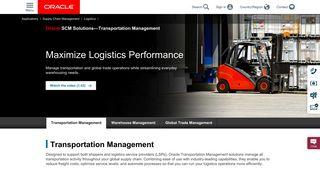 Transportation Management   Oracle