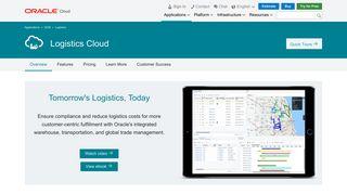 Logistics Cloud   SCM   Oracle Cloud