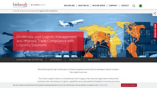 Oracle Logistics Solutions | Transportation and Warehouse - Birlasoft