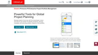 Primavera P6 Enterprise Project Portfolio Management | Oracle