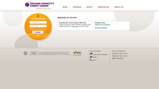 Orange County's Credit Union: with you all the way | Online Banking