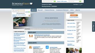 SchoolsFirst FCU - Welcome