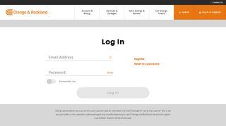 Account Login   Orange & Rockland