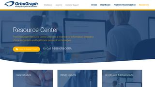 OrboGraph Resource Center | Check & Healthcare Payment Services