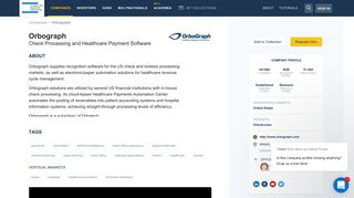 Orbograph Check Processing and Healthcare Payment Software