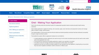 Specialty Training > Recruitment > Oriel - Making your application
