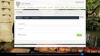 Login | Oriel College JCR