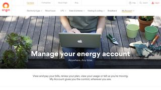My Account Support & Contact - Origin Energy