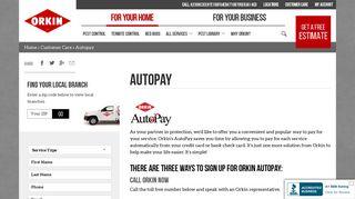Orkin AutoPay: Pest Control Payment Service