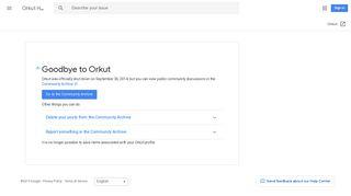 Orkut Help - Google Support