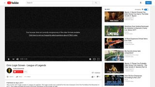 Ornn Login Screen - League of Legends - YouTube