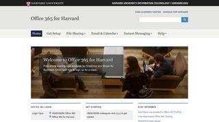 Office 365 for Harvard