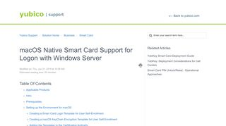 macOS Native Smart Card Support for Logon with Windows Server ...