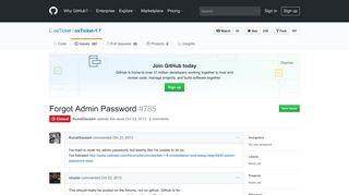 Forgot Admin Password · Issue #785 · osTicket/osTicket-1.7 · GitHub