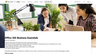 Buy Office 365 Business Essentials - Microsoft Store