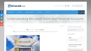 Understanding Microsoft Work And Personal Accounts | Bruceb News