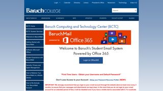 Baruchmail Student Email - BCTC - Baruch College