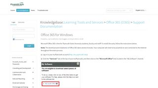 Office 365 for Windows - Powered by Kayako Help Desk Software