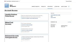 Account Access - Goldman Sachs Asset Management