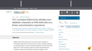 XUV excitation followed by ultrafast non-adiabatic relaxation in PAH ...