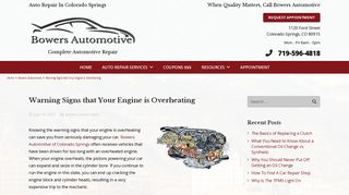 Warning Signs that Your Engine is Overheating - Bowers Automotive