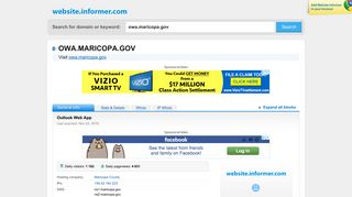 owa.maricopa.gov at WI. Outlook Web App - Website Informer